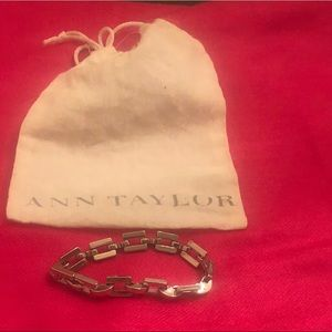 Ann Taylor silver link bracelet